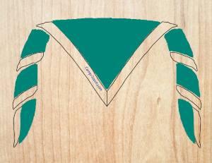 foulards scout vert foret equipement camp scoutisme. Black Bedroom Furniture Sets. Home Design Ideas